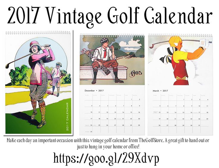 2017 Vintage Golf Calendar Make each day an important occasion with this vintage golf calendar from TheGolfStore. A great gift to hand out or just to hang in your home or office! http://www.zazzle.com/2017_vintage_golf_calendar-158023408935996623 #golf #calendar #2017Calendar #vintagegolf