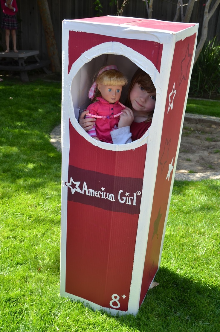 Life Size American Girl Doll Box- party photo booth