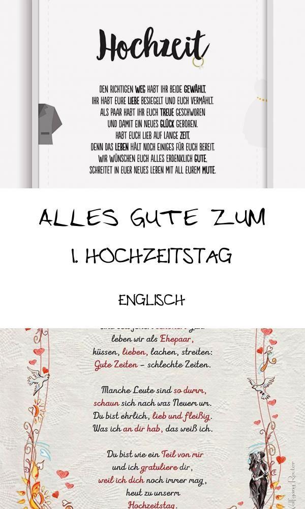 Topmost 12 Alles Gute Zum 1 Hochzeitstag Englisch Di 2020