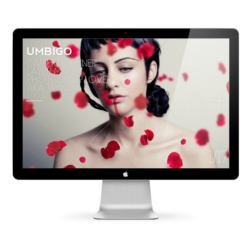 Webdesign / Umbigo by Mara Barros, via Behance www.tilnox.org