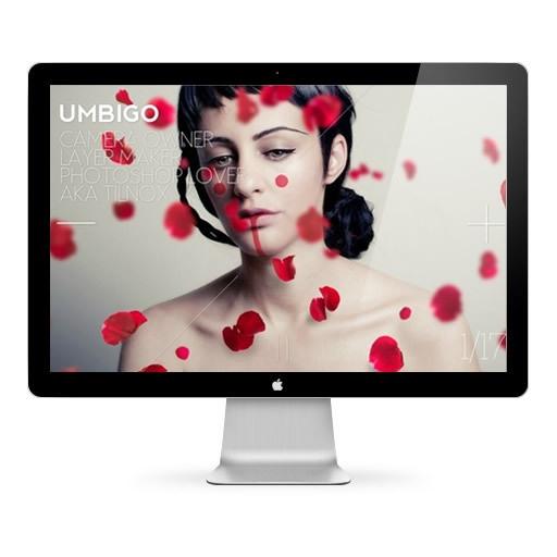 Webdesign / Umbigo by Mara Barros, via Behance www.tilnox.org