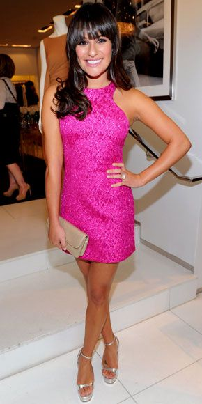 Lea Michele in Michael Kors. love the dress...