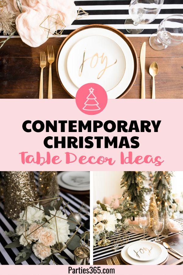Contemporary Christmas Table Decor Parties 365 Table Decorations Christmas Table Decorations Contemporary Christmas