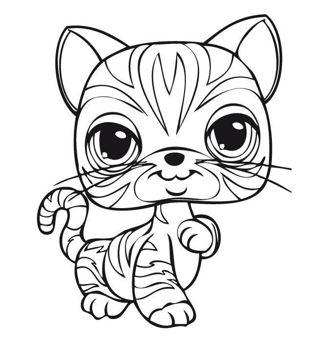 Dibujos para Colorear. Dibujos para Pintar. Dibujos para imprimir y colorear online. Littlest pet shop 22