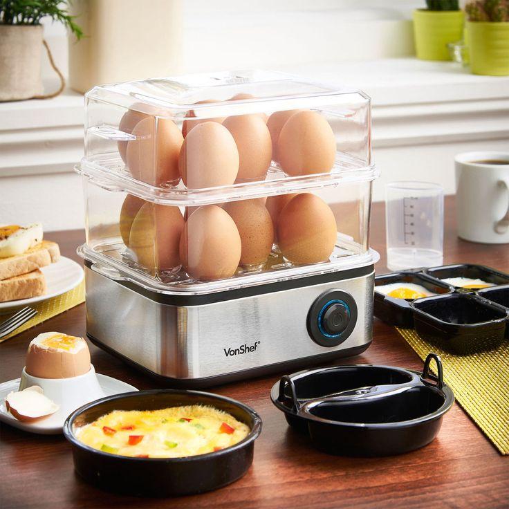 VonShef Electric 16 Egg Boiler Steamer Poacher Cooker Omelette Maker | eBay