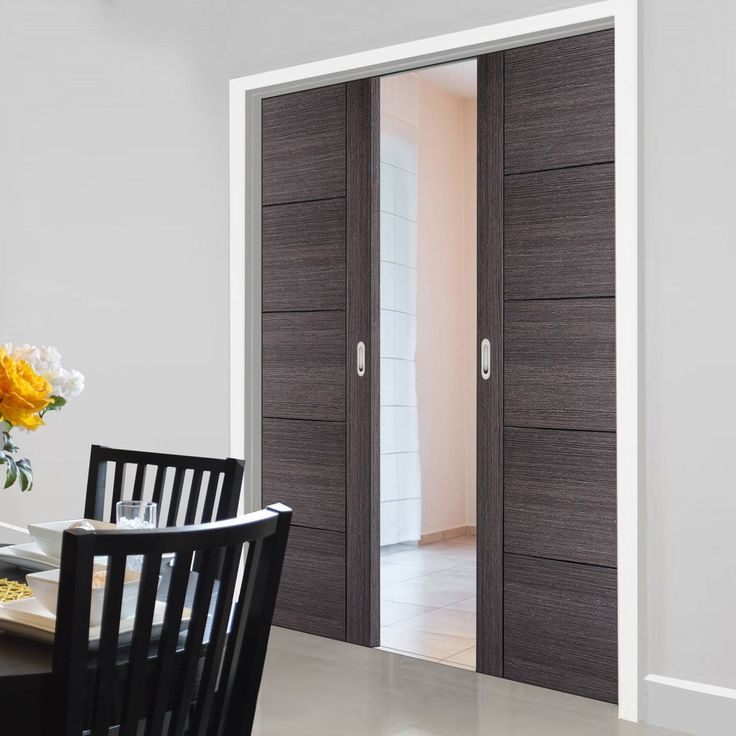 Double Pocket Vancouver Ash Grey Internal Doors - Prefinished #contemporarydoors #interiordoors #moderndoors