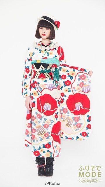 Honey Mi Honey Tina Tamashiro X Furisode Mode 着物 Kimono