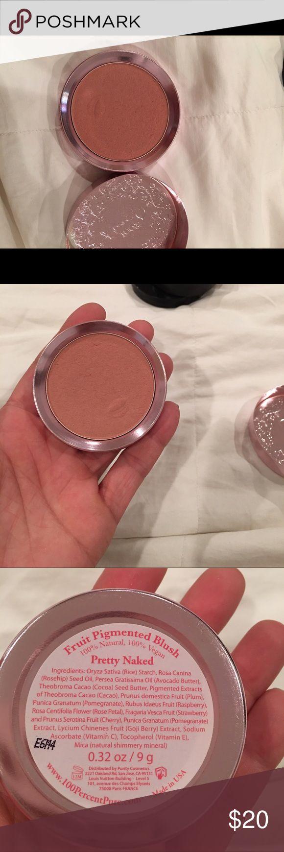 "100% PURE COSMETICS BLUSH ""NAKED"" VEGAN 100% PURE COSMETICS VEGAN BLUSH ""NAKED"" . USED 2x. 100% pure Makeup Blush"