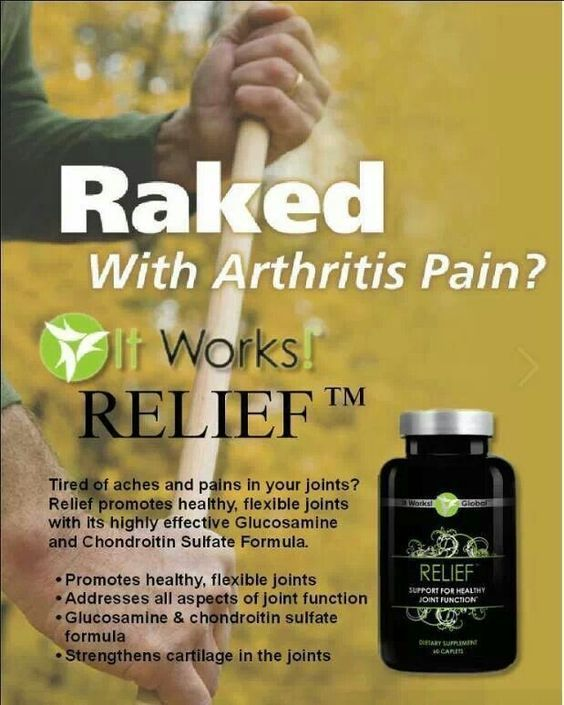 Do your joints ache and hurt?  it works has something that can help!  Don't just take something to mask the pain give your body the relief it needs!  PM me for more details!