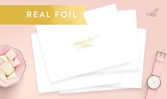 "Gold Foil Wedding Address Labels 3.5""x1.75"", Wedding Guest Address Labels, Clear Address Labels, Transparent Wedding Labels, Wedding Invite"