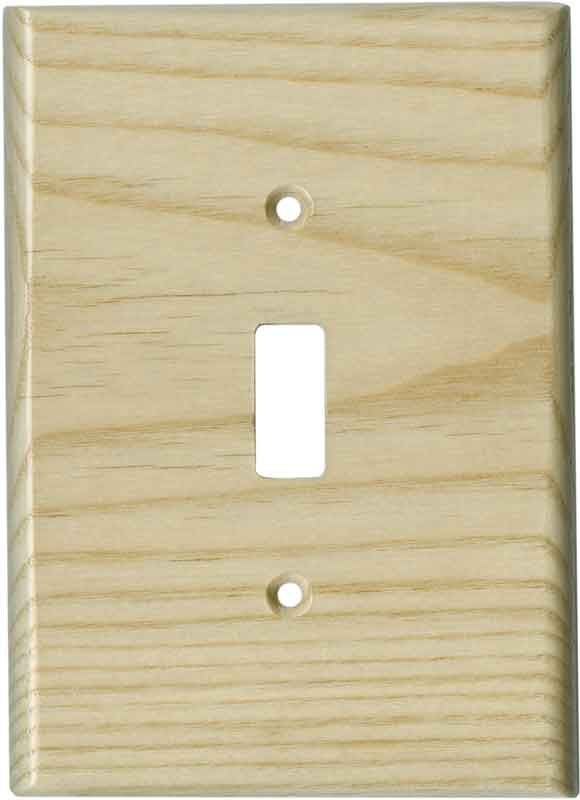 White Ash Unfinished Light Switch Plates, Outlet Covers, Wallplates