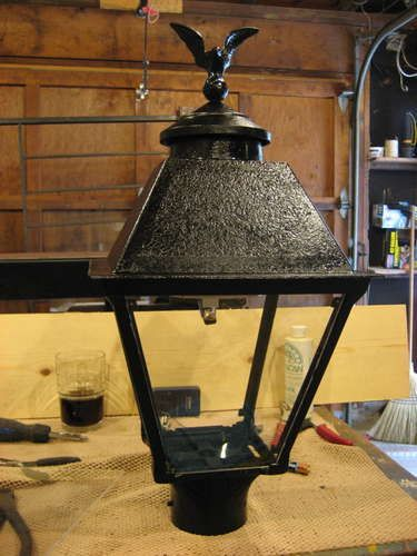 Repurposing a natural gas burning yard light into a solar yard light...I need to do this!