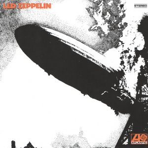 A black-and-white photograph of a zeppelin exploding