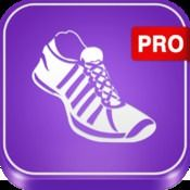 Pedometer PRO Step Counter app logo to promote today's free iTunes download