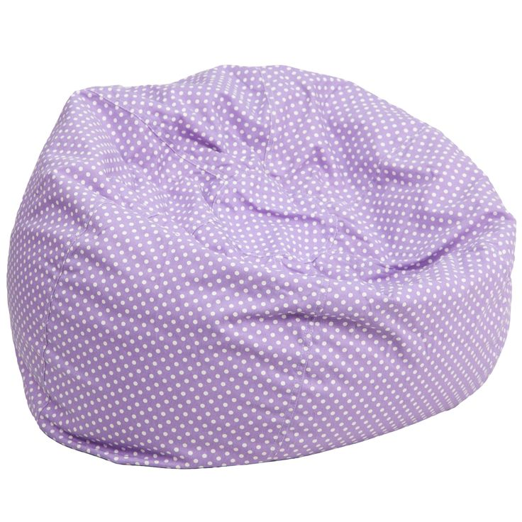 Flash Furniture Oversized Bean Bag Chair - DG-BEAN-LARGE-DOT-PUR-GG