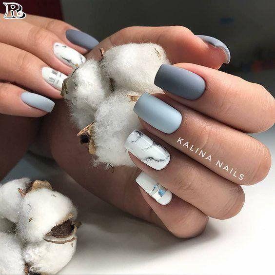 eine weltweit beliebte Marmormaniküre – – Nail art