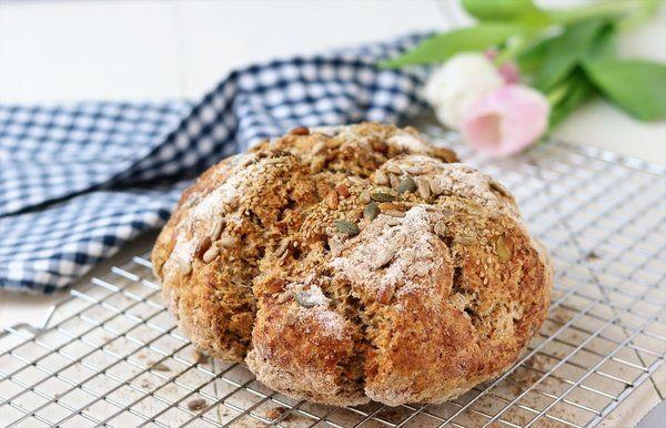 Iers Sodabrood, gezond genieten, glutenvrij, lactosevrij, vegan, brood, oh my pie!, vers, recept, makkelijk, brood bakken, kidsproof, soda