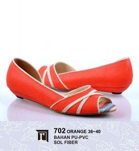 Jual Sandal Teplek Wanita Murah Online Keren Trendy warna orange