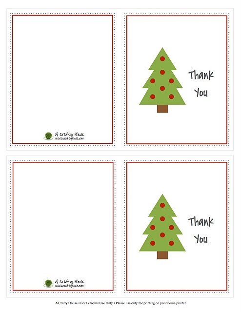 333 best Holiday-Christmas-Printables \ Games images on Pinterest - printable thank you note