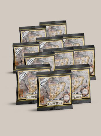 Pods Boasi Gran Riserva 150 Pieces - Fine blend of fine coffees from plantations of the best Brazilian regions and fragrant coffee from the highlands of Central America with the aroma of fruits and flowers. Delicate blend, aromatic and fragrant coffee for real experts. PACKAGES: Pods