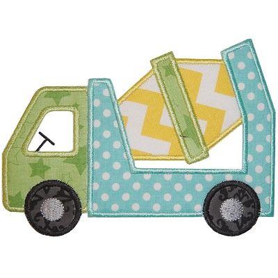 All Appliques - Cement Truck Applique