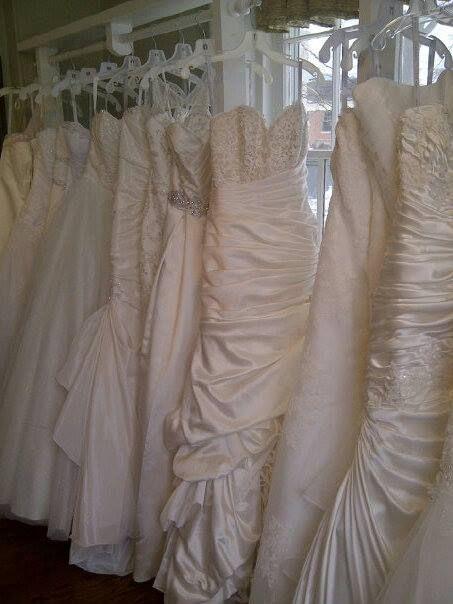 New wedding dresses in stock.