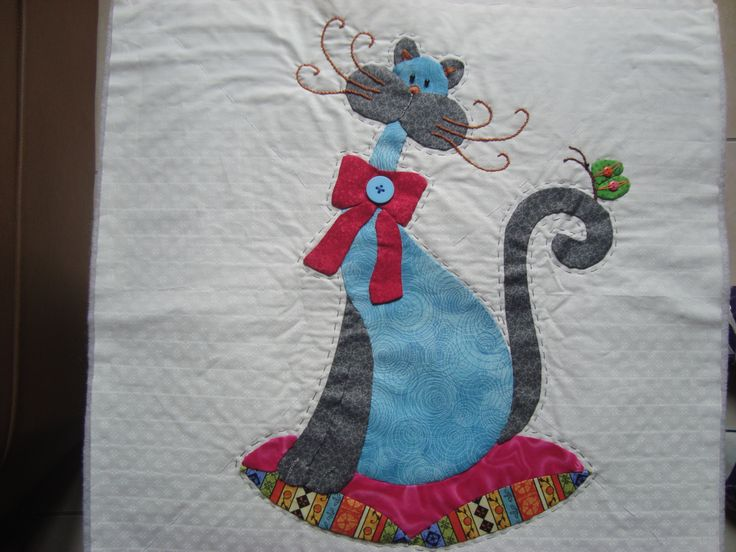 Colcha Patchword gato 2