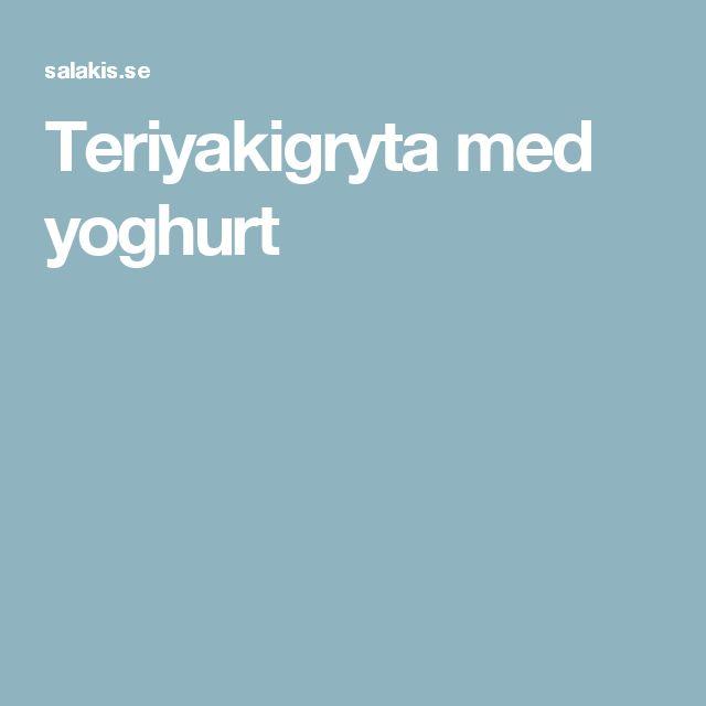 Teriyakigryta med yoghurt