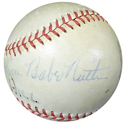 """Babe Ruth Autographed Baseball New York Yankees """"From"""" PSA/DNA"""