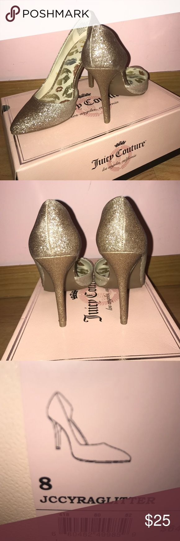 Glitter Juicy Couture heels Brand new with box. Tried on and bought but never wore them. (No Trades) Bird by Juicy Couture Shoes Heels
