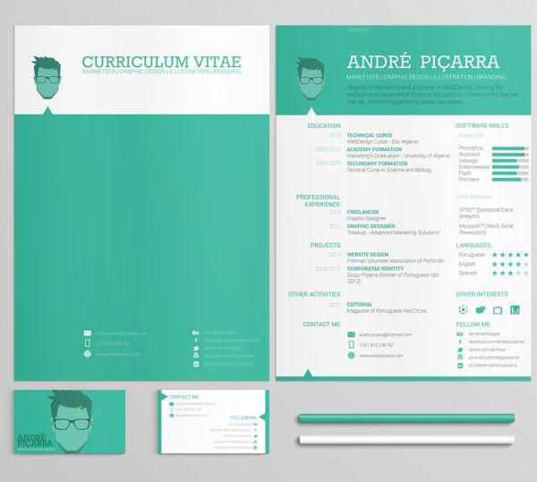 CV / Resumé by André Piçarra, via Behance