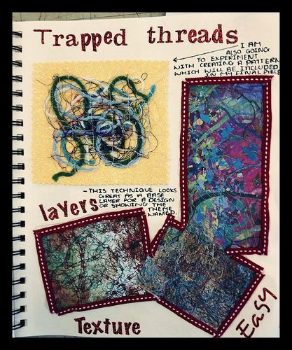 Year 9 - Trapped threads, texture