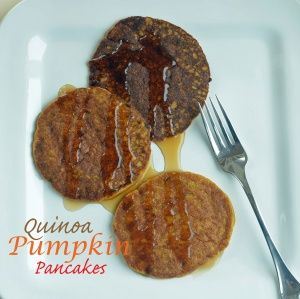 Quinoa Pumpkin Pancakes- I made these this morning- they are nutty and sweet. I used milk with lemon juice as a sub for buttermilk, and fresh cooked pumpkin puree.