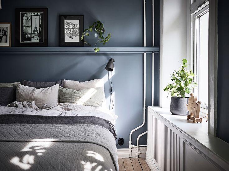 Blue calm bedroom  Övre Majorsgatan 4B, Linnéstaden Göteborg | culkner @ instagram