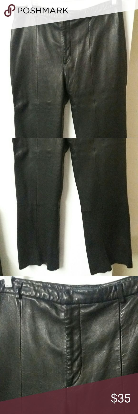 black orchid, $ The rich brown of these pants give them the color dimension of real leather, but make sure you wear them tucked into boots since they are a little too tight around the ankles.