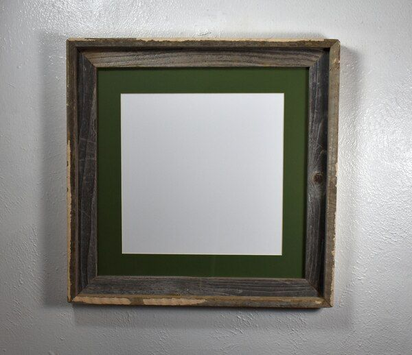 12x12 Barnwood Style Square Picture Frame Reclaimed Wood 16x16 Without Mat In 2020 Barn Wood Picture Frames Picture Frames Barn Wood