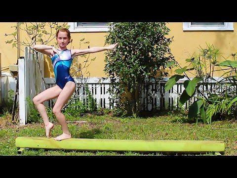 Gymnastics Routine I Beam