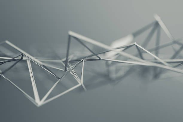 abstract 3d rendering of polygonal shape