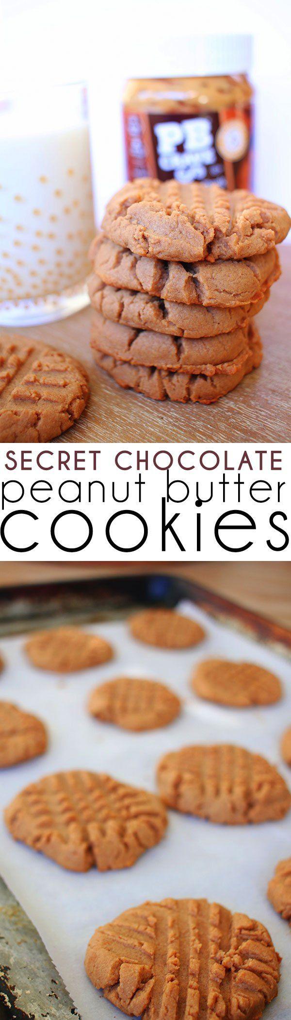 Dark Chocolate Peanut Butter Cookies   PB Crave Cookies   It's Pam Del
