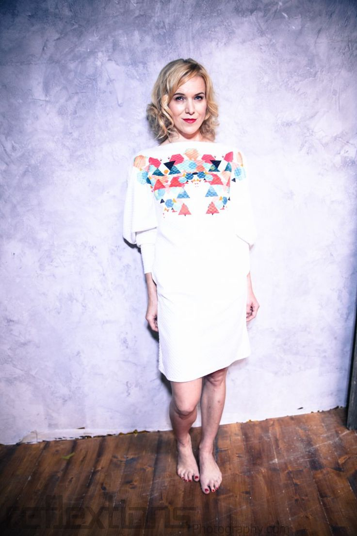 fashion designer Petra Balvinova wears SYN