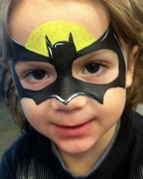 Batman facepaint LOVE IT!! :)