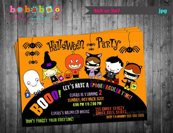 Best Lincolns St Birthday Images On Pinterest Android Apps - Halloween birthday invitations etsy