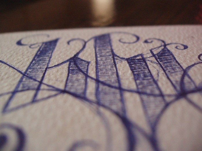 Blu - particolare © Laura Silvestri #typo #calligraphy