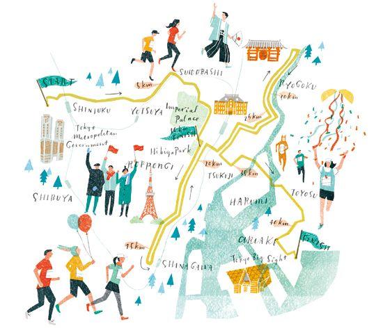 Masako Kubo - Tokyo marathon map
