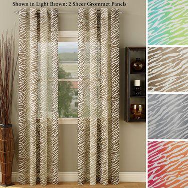 Zebra curtain (sheer) ... use to make DIY Roman shade for bathroom??