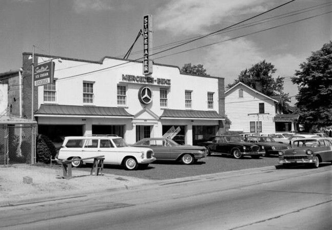 Studebaker Mercedes Benz dealer circa 1963.