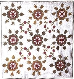 A quilt from Barbara Brackman's MATERIAL CULTURE: Missing Nancy Hornback post.
