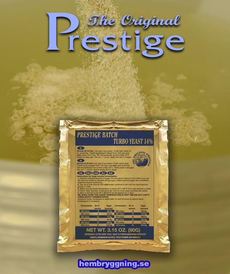 Prestige Batch 14% är en extremt renjäsande alkoholjäst som kan användas även i stora jäsningar på 200 liter eller mer. Utmärkt om man jäser i fat.