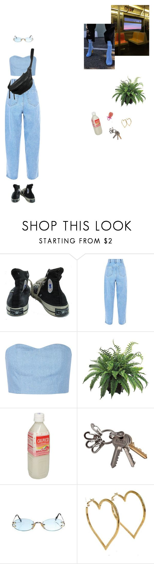 """""""bumming out"""" by ninaaaquino ❤ liked on Polyvore featuring Converse, Julien David, Yvonne Koné and Chanel"""