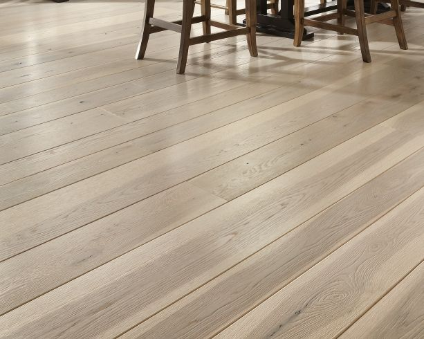 Wide plank light hardwood floor with oil finish, ash or hickory *DONE*